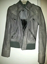 Guess Leather Jacket, Gray, Sz XS