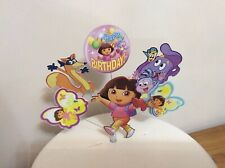 Dora, boots, backpack and, Swiper Birthday cake topper display (Unofficial)