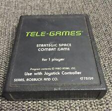 Tele-games Strategic Space Combat Game For One Player Atari 2600 SEARS RARE