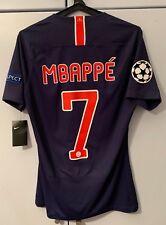 Maillot de Football PSG Jersey match un worn PLAYER ISSUE Shirt Mbappé 18/19