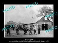 OLD LARGE HISTORIC PHOTO OF MURGON QLD, THE WALDOCK BLACKSMITH WORKS c1910