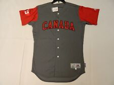 Authentic Team Canada 2017 WBC World Baseball Classic Jersey Reg.$309 Gray 44