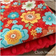 33cm bundle Dimple /& Printed Plush SHANNON Fabric Posy Floral Pink /& fuschia