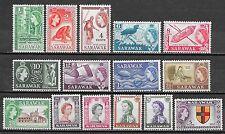 Sarawak stamps 1955 SG 188-202  MNH  VF