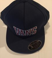 Vans Off The Wall Hat Flex Fit With A Snapback Closure One Size Navy