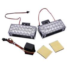 2 x 22 LED Car Flashing Emergency Light Grill Strobe Flash Lamp 12V C9P7 H3 Y2K5