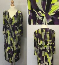 Silk Midi Geometric Dresses for Women