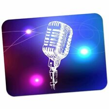 Line Art Stage Microphone Thick Rubber Mouse Mat Pad