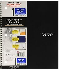 Md Five-Star Wirebound Notebook, College Rule, 3-hole Punch, Poly Cover