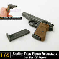 "1/6 Scale Weapon Gun Model Automatic Pistol Walther PPK F 12"" Dragon Toys"