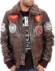 Aviatrix Mens Boys Wills US Pilot Flying Antique Leather Jacket Bomber Air Force