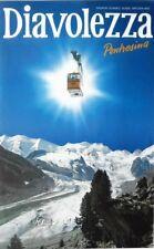 Original vintage poster DIAVOLEZZA SKI CABLEWAY CABIN c.1980