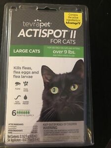 TevraPet Actispot II Flea Prevention for Cats- 6 doses