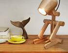 Creativity Wood Height 30CM Bedroom Bedside Desk Reading Decorate Table Lamp