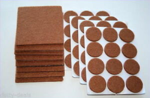 Felt Floor Furniture Protection Pads | Table Chair Leg Laminate Adhesive Pads