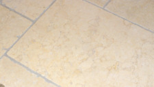 Sample of Tumbled Jerusalem Light Gold Limestone Travertine Tiles
