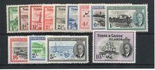 Turks and Caicos 1950 sg221-233  U/M
