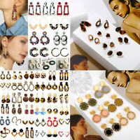 Boho Geometric Women Dangle Drop Hook Acrylic Resin Ear Stud Earrings Jewelry