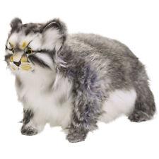 "HANSA Stuffed Doll Manul cat BH7077 Animal Wild Plush Toy 11.8"" Collectible"