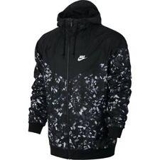 Nike NSW Windrunner AOP Jacket Full Zip Black White Print Mens Size XL NEW!