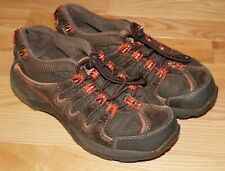 LL Bean Boys Brown Heavy Duty Low Hiker Shoes Size 3 Good Condition