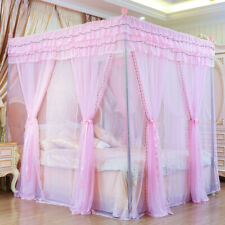 on sales mosquito net bed netting 2 PLY princess style bed canopy with tubes new
