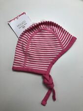 ff9de63ef36 Hanna Andersson Pilot Cap Hat Pink White Organic Cotton Size XXS NEW LBFO