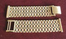 Super Unworn Heavy Solid Gold 1965 Vintage Watch Bracelet.London Hallmarked.