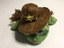 Stofftier / Plüschtier Schildkröte Cowboy