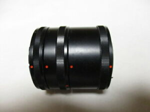 Set of three(12mm, 20mm and 36mm)auto extension tubes for Canon FD