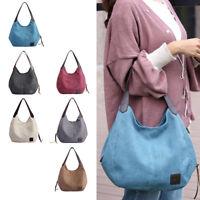 Large Women Canvas Handbag Shoulder Purse Crossbody Tote Bag Messenger Satchel