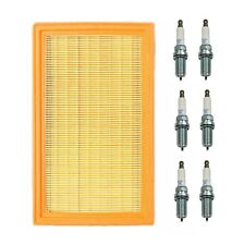For Infiniti FX35 Nissan Quest Set of Air Filter Denso and 6 x Spark Plugs NGK
