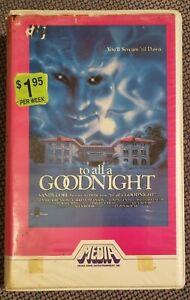 TO ALL A GOODNIGHT 80s Horror MEDIA VHS Video Classics Harry Reems David Hess