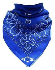 BANDANA Halstuch Paisley Blau 50x50cm 100% Baumwolle