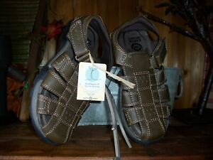 EARTH SPIRIT MENS SPORTS SANDALS SHOES SIZE 7 BROWN ADJUSTABLE ANKLE STRAP NEW