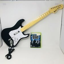 Harmonix Fender Stratocaster Rock Band Wired Guitar Xbox 360 #822152 NO USB Conn