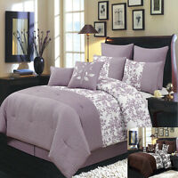 Bliss Luxury 8 PC Comforter Set Includes Comforter Skirt Shams and Pillows