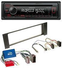 Kenwood CD 1DIN AUX MP3 USB Autoradio für Audi A4 B6 00-04 Aktivsystem Mini-ISO