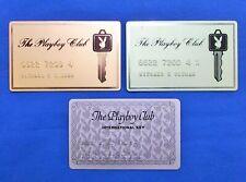 3 VINTAGE PLAYBOY CLUB CARDS INTERNATIONAL KEY, ETC. MEMBERSHIP CARDS