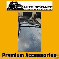 VW Caddy Short Wheel Base Roof Rails with 2 Cross Bars Black Aluminum 2004-2010