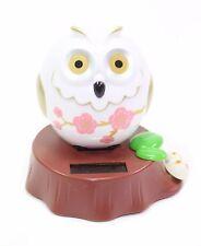 Eco-Friendly Solar Toy Owl Lover Praying Gift Home Decor White Owl US Seller