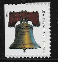 US Scott #4127d, DOUBLE SIDED Single 2008 Liberty Bell VF MNH