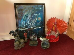 🐉 MYTHICAL DRAGON ORNAMENTS/PICTURE BUNDLE - COLLECT ONLY - PLS CHECK PICS 🐉