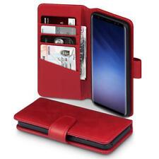 Terrapin Funda Cartera de Cuero para Samsung Galaxy S9-Rojo