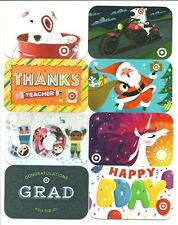 Lot of (8) Target Gift Cards No $ Value Collectible Dog Motorcycle Santa Teacher