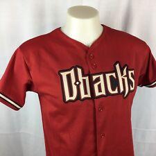 40d52eddc Arizona Diamondback Boys Baseball Jersey Majestic XL Red Button Front MLB  EUC