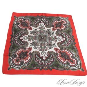 Vintage Liberty of London Made in England Paisley Large Pocket Square Scarf NR