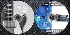 300 Patches Korg AX3000G Multi Effects Processor. & 48.328 Gitarre Noten Tab