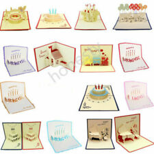 3D Luxury Handmade Pop Up Greeting Card Happy Birthday Blessing Lucky Xmas Gift