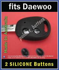 fits Daewoo Matiz Nubira remote key fob -2 SILICONE replacement key Buttons